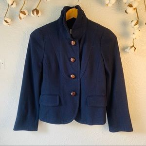 J.Crew Navy Wool Jacket 4P